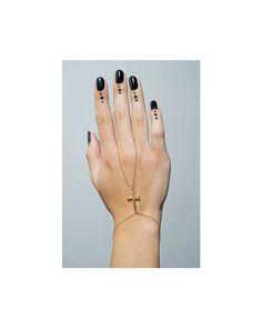 Gold Cross Hand Chain - JewelMint