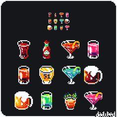 Pixel Art Food, Cool Pixel Art, Pixel Art Games, Pixel Circle, Hamma Beads 3d, Neon Symbol, Pix Art, Pixel Design, Pixel Pattern