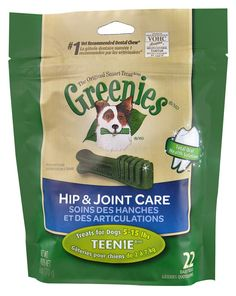 GREENIES Hip and Joint Care Canine Dental Chews Teenie Dog 6 Oz. Pack of 2 *** See this great product. (This is an affiliate link)
