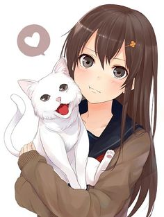 Anime girl with neko
