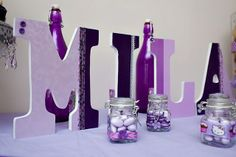 """Photo 2 of 17: Girl purple baby shower / Baby Shower/Sip & See """"Life is Sweet """"   Catch My Party"""