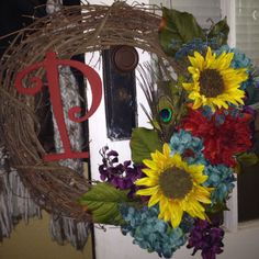 Summer wreath :) Going to try and make for my front door!