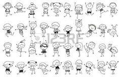 cijfers%3A+tekening+schets+-+Groep+kinderen