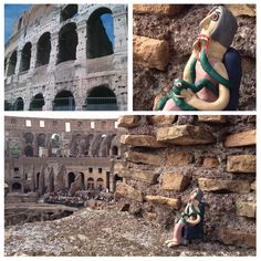 Anna K. at the #colosseum, desperately waiting for some #gladiator action.