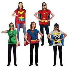 Female Superhero Costumes Adult T-Shirt Halloween Fancy Dress  sc 1 st  Pinterest & 19 Easy DIY Adult Costumes   Pinterest   Homemade costumes ...