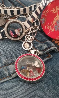 www.tinal.origamiowl.com - Wore this locket  and wrap bracelet when a big group of my cousins had family day at Anaheim Stadium.  Had a blast and got a lot of compliments on my Origami Owl.  #angelsbaseball  #familyiseverything