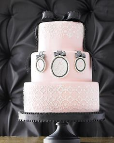 #Silhouette and #lace -218 #cake