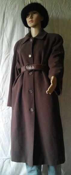 Bellandi Carlo Cecci Brown Long Wool&Cashmere Coat Size 46 #Bellandi #BasicCoat #Coat #CarloCecci #coatsandjackets #eBay #Fashion