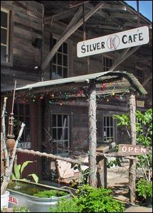 Fine Dining Silver K Cafe in the Old Lumber Yard Complex, Johnson City Texas