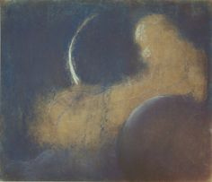 Night Pastel on paper. 1905 M.K. Ciurlionis (Lithuanian composer and painter, 1875 - 1911)