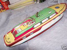 Chein Cabin Cruiser All Metal Key Wind Antique Toys, Vintage Toys, Cabin Cruiser, Toy 2, Tin Toys, Toy Boxes, Childrens Books, Key, Antiques