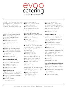 Catering Menu Templates  Sample Catering Menu Little River