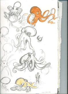 Mal-Vorlagen Octopus by Thevakien on DeviantArt animals animal sketches DeviantArt MalVorlagen Octopus Thevakien Octopus Sketch, Octopus Drawing, Octopus Art, Octopus Illustration, Octopus Tattoos, How To Draw Octopus, Octopus Painting, Mermaid Tattoos, Animal Sketches