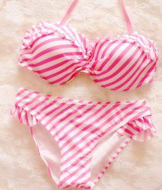 Sexy Striped Bikini Swimsuit