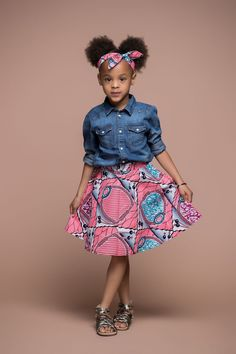 Lola Kid's Skirt   African Clothing For Children   Grass-fields