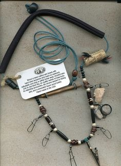 Uniquely handcrafted fly fishing lanyard