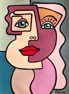 28 26 Painting Acrylic by Laurent Folco France Prints available from 28 26 via Artmajeur Painting Acrylic OutsiderArt - Kunst Picasso, Picasso Art, Picasso Paintings, Small Canvas Art, Diy Canvas Art, Abstract Face Art, Cubist Art, Picasso Style, Guache
