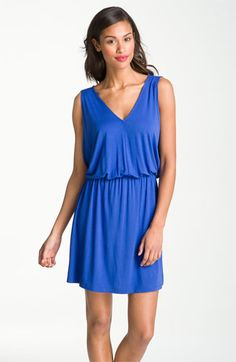 looks comf. Caslon® V-Neck Print Knit Dress available at Nordstrom