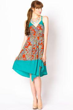 Paisley Day Dress | a-thread