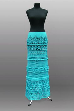 Dreaming in turquoise…This skirt has been inspired by tropical vacations, warm…