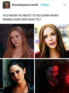 Funny Marvel Memes, Dc Memes, Avengers Memes, Marvel Show, Marvel Fan, Marvel Avengers, Marvel Characters, Marvel Movies, Elizabeth Olsen