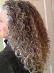 Natural Color And Curls Curly Gray Hair Colored Brown Grey