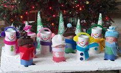 adornos de navidad con rollos de papel higienico - Buscar con Google