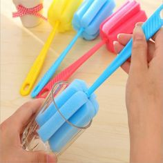 Long Handle Sponge Cleaning Brush Tool Household Kitchen Supplies