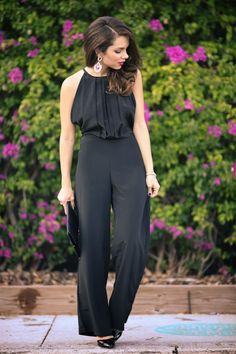 19 Stylish Black Jumpsuit Outfit Ideas Perfect for Every Occasion ( Part Elegant Woman, Schwarzer Overall Outfit, Black Jumpsuit Outfit, Summer Jumpsuit, Jumpsuit Elegante, Love Fashion, Womens Fashion, Ladies Fashion, Elegantes Outfit