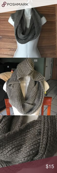 Hooded infinity scarf Cross between brown and grey color. Comfy scarf with hood. Perfect for those cold days or simply when your jacket doesn't have a hood Accessories Scarves & Wraps