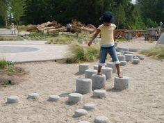 Stepping stones at Garden City Park, Richmond Canada, 2008 Garden City Park, Park City, Playground Design, Outdoor Playground, Richmond Canada, Kids Play Spaces, Outdoor Gym, Outdoor Classroom, Outdoor Learning