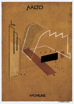 Gallery - Federico Babina's ARCHILINE Paints the Essence of Architecture's Greatest Works - 18