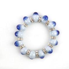 Retro Mermaid's Tears Ceramic Bracelet(