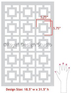 Stencil for home projects