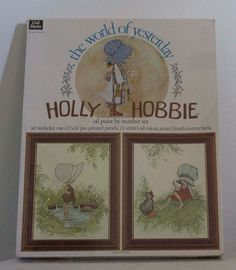 Vintage Holly Hobbie oil paint by number set from 1975 - never been opened.