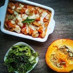 Saftiger Kürbis-Gnocchi Auflauf, ein raffiniertes Rezept aus der Kategorie Gemüse. Bewertungen: 261. Durchschnitt: Ø 4,6.