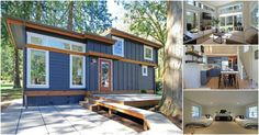 There's an adorable community called Wildwood on the shore of Whatcom Lake in Washington made up of tiny houses designed to be the perfect retreat for families. Each home is privately owned and they come with quite the hefty price tag with most starting in the mid-300's!