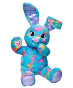 16 in. Color Burst Bunny | Build-A-Bear | I love bunnies so this is one I would love to have in my collection. I love the colors.