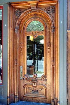 Carved Door -  Saratoga Springs, NY