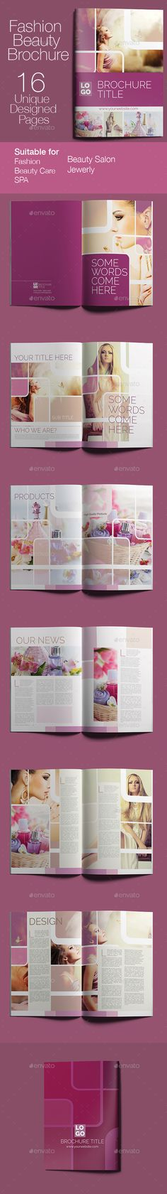 Fashion & Beauty Brochure Template Vector EPS, InDesign INDD, AI Illustrator