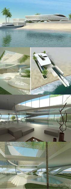 Luxury Beach House in Qatar by Project A.01  Architects #BeachHouse #FantasySummerHOme #PropertyMinder