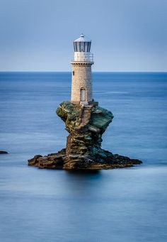 Tourlitis Lighthouse, Andros, Greece.