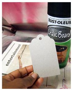 Chalk Board Paint Gift Tags - use nothing thinner than cardboard.