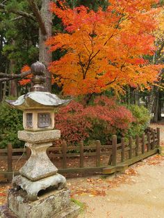 "visitheworld: "" Stone lantern at the Danjō Garan, Kōya-san, Japan (by "" Japanese Garden Lanterns, Japanese Stone Lanterns, Japanese Gardens, Beautiful World, Beautiful Gardens, Beautiful Places, Japanese Temple, Asian Garden, Chinese Landscape"