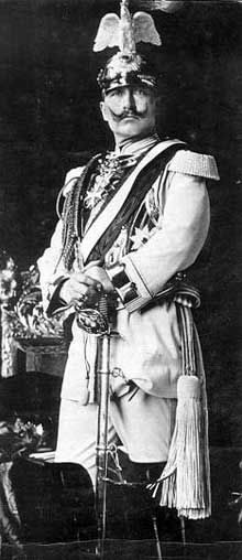 WW1. Wilhelm, the German Kaiser,  dressed up, with a kind and friendly face.