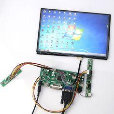 94.49$  Watch now - http://ali91d.worldwells.pw/go.php?t=32750639698 - 10.1 inch B101UAN01 B101UAN02 1920*1200 LCD Display + LCD Controller Driver Board HDMI VGA 2AV DVI AUDIO