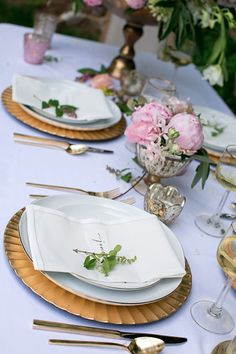 Styling by Ginny Branch, florals by Amy Osaba, products by Accent Decor Wedding Centerpieces, Wedding Decorations, Table Decorations, Wedding Design Inspiration, Wedding Table Linens, Black White Gold, Wedding Designs, Wedding Ideas, Center Table