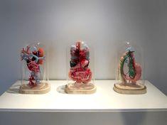 Cecile Dachary - #fibre #fiber #art #crochet #organs #anatomy #dome #sculpture