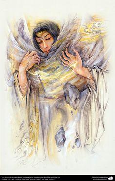 Sin título Obras maestras de la miniatura persa; Artista Profesor Mahmud Farshchian, Irán
