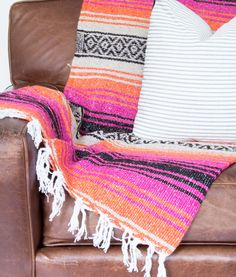 """Hot Magenta"" throw blanket || Lindsay Marcella"